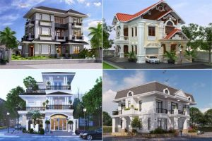 Các kiểu kiến trúc biệt thự hiện nay