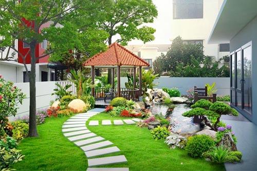 +29 Ý tưởng thiết kế sân vườn biệt thự đẹp, độc đáo nhất 2020