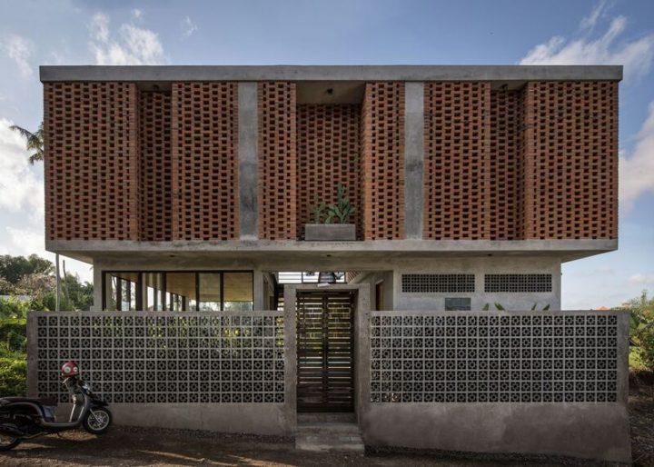 Biệt thự bằng gạch 2 tầng đẹp hiện đại