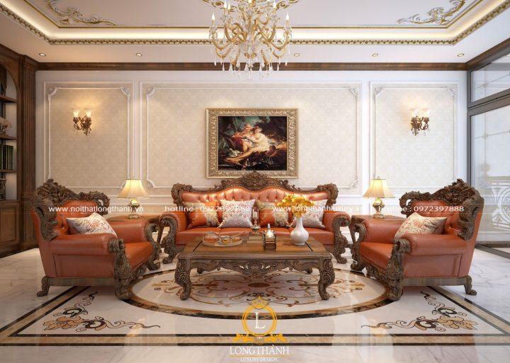 Sofa tân cổ điển, mẫu ghế sang trọng nhất cho phòng khách